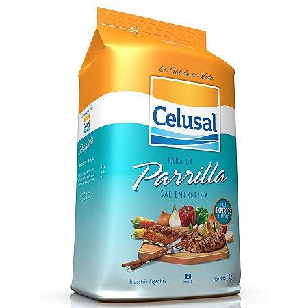 Sal Celusal Entrefino Para Parrilla 1kg Refil