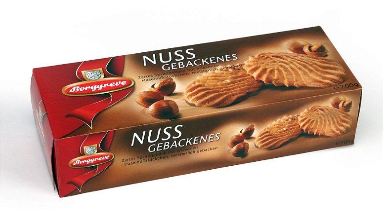 Borggreve Biscoito Amanteigado com Avelã Nussgebackenes 200g