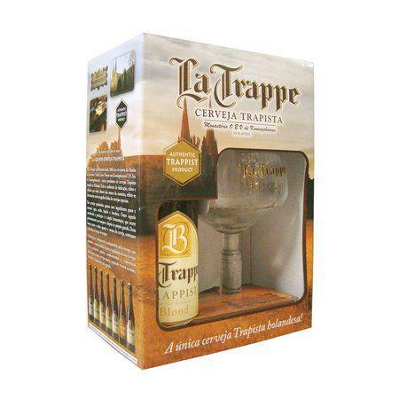 Kit La Trappe Blond 330ml (1 garrafa + 1 taça)
