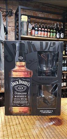 Kit Whisky Jack Daniels 1 Litro com dois copos