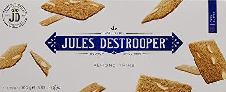 Biscoito Belga Jules Destrooper Almond Thins 100g