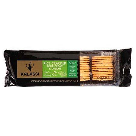 Snack Kalassi Salgado Rice Crackers Sour Cream & Onion 100g
