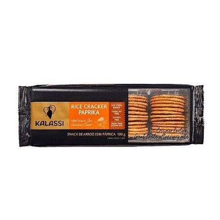Snack Kalassi Salgado Rice Crackers Paprika 100g