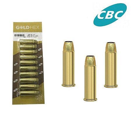 MUNIÇÃO CBC .38 +P+ GOLD HEX CARTELA C/ 10 UN