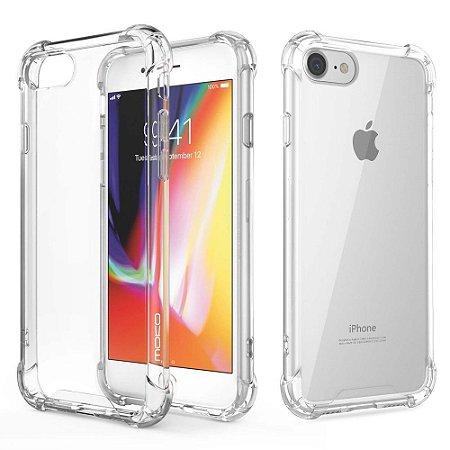 Capa de Silicone Celular Iphone 8 Transparente Borda Anti-Impacto