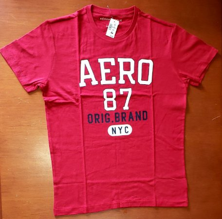 Camiseta Original Aeropostale - Cor Vermelha  - Tamanho M