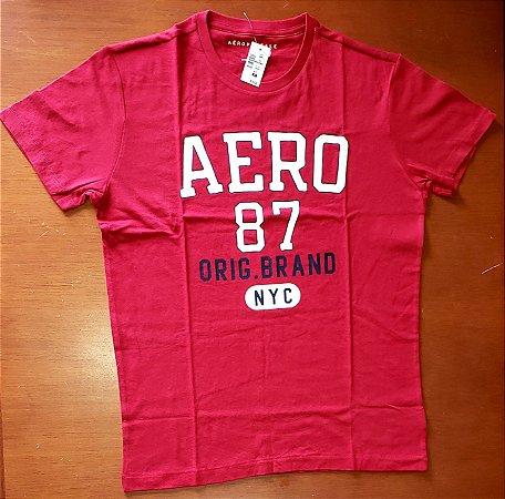 Camiseta Original Aeropostale - Cor Vermelha - Tamanho XL
