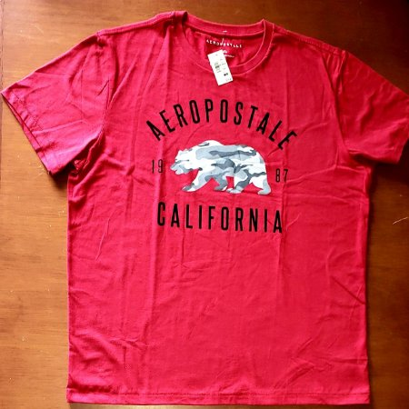 Camiseta Original Aeropostale California - Cor Vermelha  - Tamanho XL