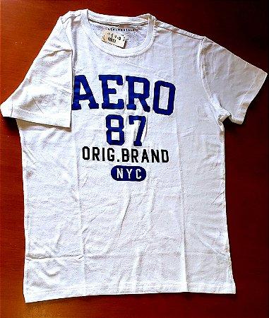 Camiseta Original Aeropostale - Cor Branca  - Tamanho M