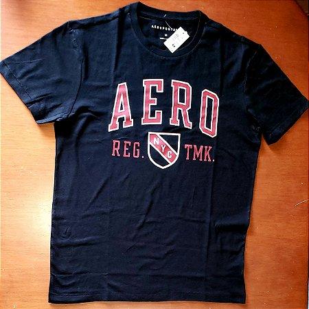 Camiseta Original Aeropostale - Cor Azul Marinho  - Tamanho M