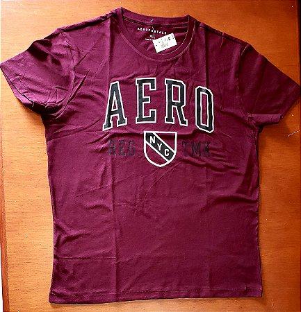 Camiseta Original Aeropostale - Cor Roxa  - Tamanho XL
