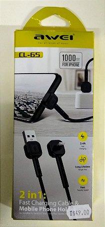 CABO  USB 2 EM 1 PARA IPHONE
