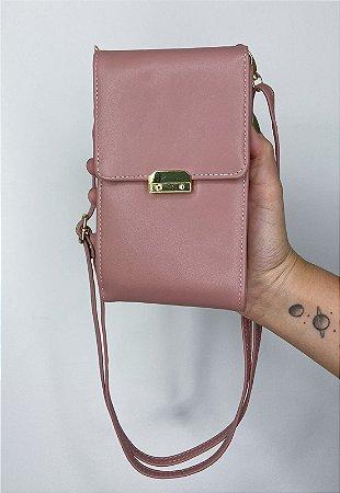 Bolsa Transversal Feminina Pequena Básica Rosê B037