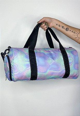 Mala de Mão Bolsa Transversal Estampa Holográfica Multicolorida A017