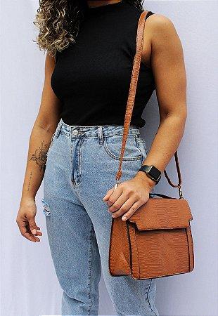 Bolsa Transversal e de Mão Feminina Caramelo B048