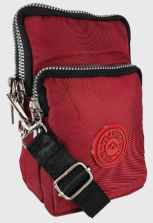 Shoulder Bag Bolsa Transversal de Nylon Vermelha B027