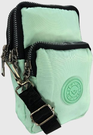 Shoulder Bag Bolsa Transversal de Nylon Verde B027