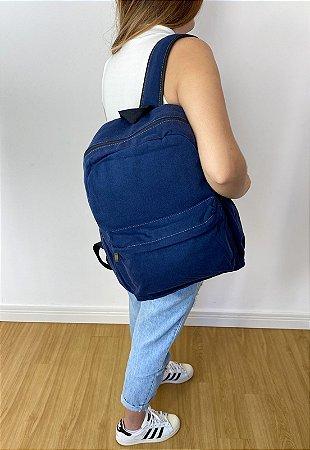 Mochila Escolar Jeans Grande Azul A010