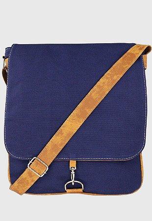 Bolsa Transversal de Lona Azul L068