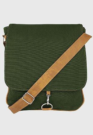 Bolsa Transversal de Lona Verde L068