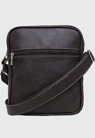 Shoulder Bag Bolsa Transversal Pequena Marrom L084