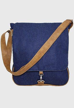 Bolsa Transversal Jeans Azul Marinho L068