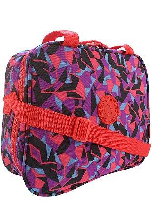 Bolsa Marmiteira Térmica Feminina Estampada Vermelha B026