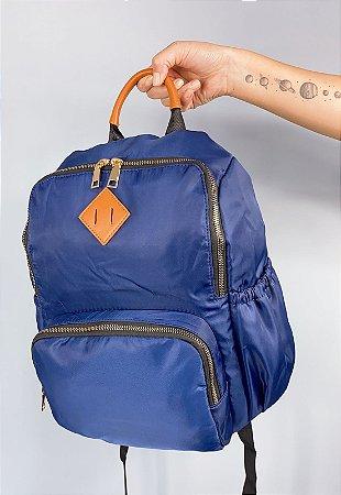 Mochila Clássica de Nylon Azul 030