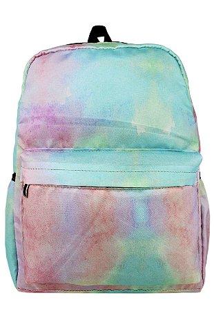 Mochila Grande de Nylon Estampa Tie Dye Multicolorida A015