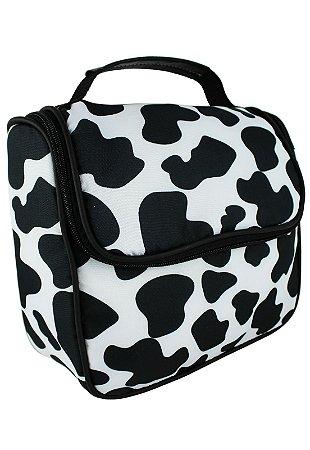 Bolsa Marmiteira Térmica Cow Print Preta e Branca A016