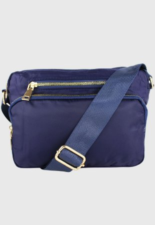 Bolsa Transversal Feminina de Nylon Azul B029