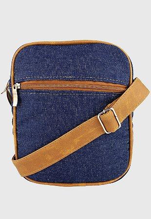 Shoulder Bag Bolsa Transversal de Lona Pequena Jeans L084