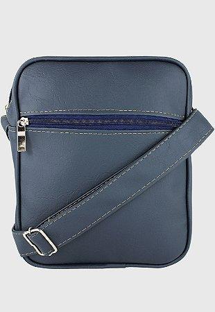 Shoulder Bag Bolsa Transversal Pequena Azul L084