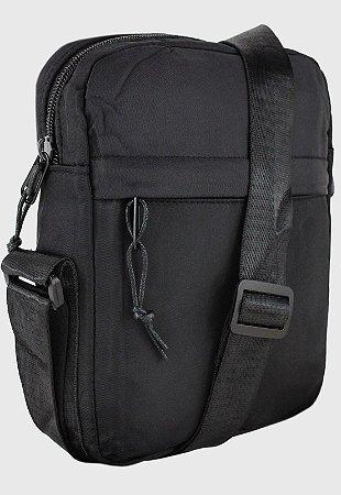 Shoulder Bag Bolsa Transversal Pequena de Nylon Preta B034