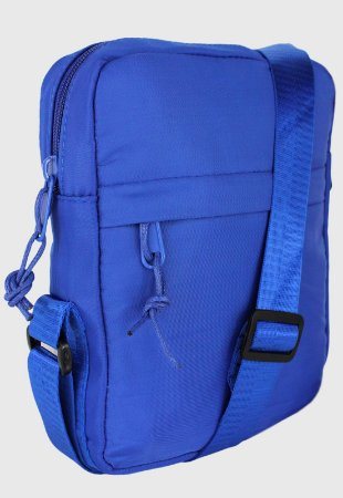 Shoulder Bag Bolsa Transversal Pequena de Nylon Azul B034