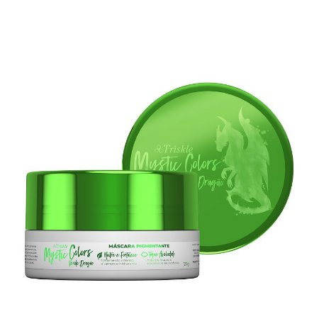 Máscara Pigmentante Triskle Mystic Colors Verde Dragão 120g