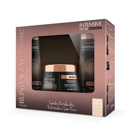 Kit Triskle Intensive Repair Blindagem De Verniz (Shampoo e Condicionador 350ml) + Máscara 300g