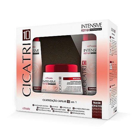 Kit Triskle Intensive Repair CICATRI10 (Shampoo e Condicionador 350ml) + Máscara 300g