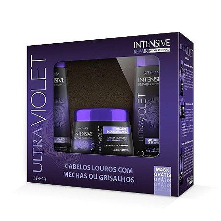 Kit Triskle Intensive UltraViolet (Shampoo e Condicionador 350ml) + Máscara 300g