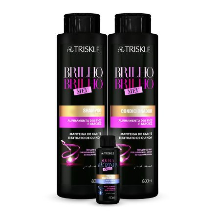 Kit Triskle Brilho, Brilho Meu 1600ml