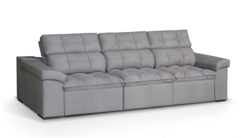 Sofá  retrátil e reclinável 2,44m