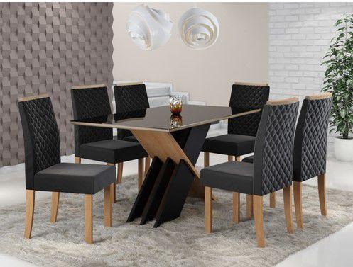 mesa de jantar com 6 lugares