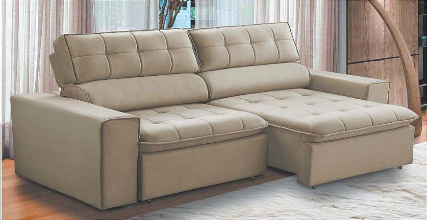 Sofá retrátil e reclinável 2,30