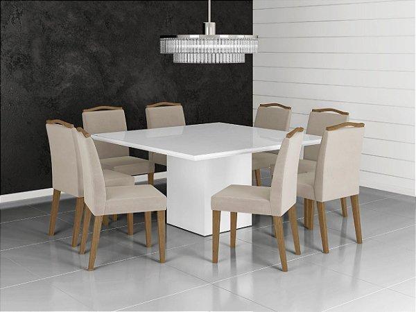 Mesa quadrada com 8 Cadeiras