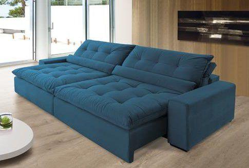 Sofá Anjos Confortable 2,70m Molas Ensacadas