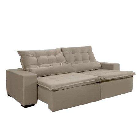 Sofá retrátil e reclinável 2,50m de largura
