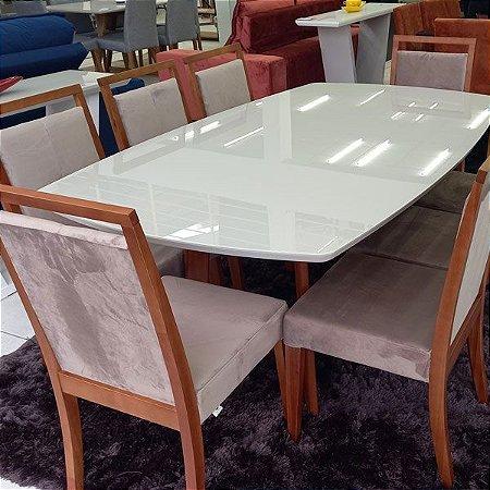 Mesa de Jantar 1,90x1,10 com 8 Lugares