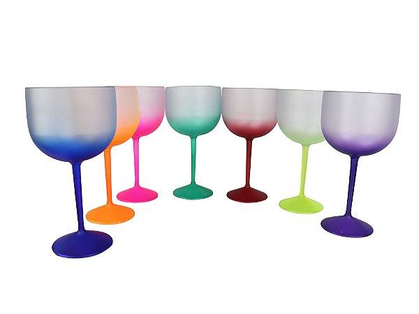 Taças De Gin Degradê Fosca - 550ml