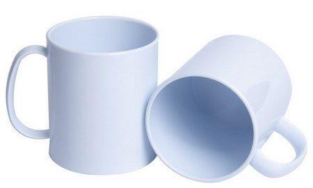 Caneca Polímero Branca Alça Curva - 325 ML