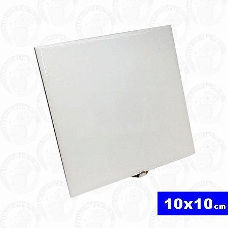 Azulejo Resinado 10x10cm Branco - Sublimação